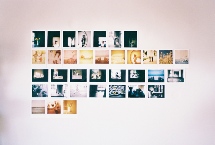 My polaroid wall the sweet light for Wall pictures